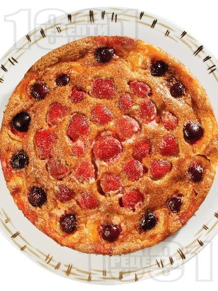 Плодово суфле с череши, ягоди и кайсии - снимка на рецептата